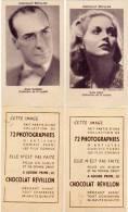 Chocolat Révillon - 2 Images - Nan Grey & Jean Worms (acteurs De Cinéma) (49270) - Chocolat