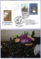 Sonderflugpost Weihnachten 2004 WIEN - MAURITIUS Ab Christkindl (301) - AUA-Erstflüge
