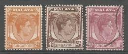 Singapour Malaya N°2,4 Et 9 (*)et(o) - Singapore (...-1959)