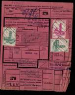 BELGIQUE CHEMIN DE FER IEPER > WAARSCHOOT - COLIS MILITAIRE MILITAIR COLLI Express (main) - 14-VII-61 - Chemins De Fer