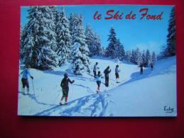 CPM THEME SPORTS D´HIVER   LE SKI DE FOND  NON VOYAGEE   CARTE EN BON ETAT,MINIME VECU - Sports D'hiver