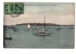 CPA NB Saint-malo Vue Générale Prise Du Port De Dinard - Saint Malo