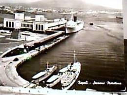 NAPOLI PORTO NAVE SHIP FERRY E CRUISER V1954 DZ7589 - Napoli (Nepel)