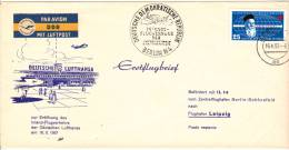 [W] Lettre DDR Allemagne De L'Est Eastern Germany Lufthansa Avion Plane Aéroport Airport Croix Rouge Red Cross - FDC: Enveloppes