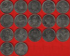 "Russia Set Of 16 Coins: 2 Roubles 2012 ""Patriotic War 1812"" UNC - Russland"