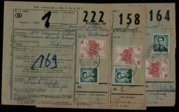 3 X BELGIQUE CHEMIN DE FER KOKSIJDE 1 POSTSTEMPEL S. LUNETTES - 1963 > WATERMAAL - AUDERGHEM - BRUSSEL - Chemins De Fer