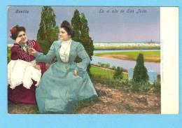 SEVILLA / SEVILHA / ESPANA Tarjeta Postal COSTUMBRE - En El Alto De San Juan. Old Postcard Spain - Sevilla
