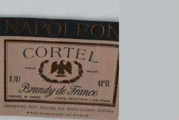 Etiquette  NAPOLEON  -  CORTEL  -  BRANDY  De  France  - - Etiquettes