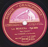 "78 Tours - DISQUE ""GRAMOPHONE""  K 8695 - JEAN VAISSADE - LA MORENA Paso-doble - SCOTTISH 45  Scottish - 78 Rpm - Schellackplatten"