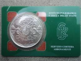 ITALIA  -  MEDAGLIA  ARGENTO  I.P.Z.S.  SERVIZIO  CORTESIA: ABBONAMENTI  ANNO  1995  FDC  - - Italia