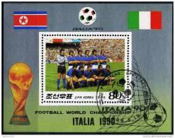 1990 - DPR KOREA  - ITALIA 90  - SHEET USED - 1990 – Italia