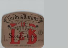 Etiquette  -  LORDS  &  BARONS  -  SCOTCH  WISKY  -  ROYAL  BLEND  -  St  MEME  Charente - Autres