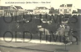 PORTUGAL - ALMEIRIM - JARDIM PUBLICO - VISTA GERAL - 1940 REAL PHOTO PC - Santarem