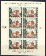 1962 Belgium Complete MNH Set Of 8 Stamps In Sheet Michel Block 27 - Belgium
