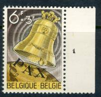 1963 Belgium Complete MNH Set Of 1 Stamp Freedom Bell Issue Michel 1301 - Belgium