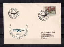 1970, MUSEO DE MALMÖ, EXPOSICIÓN SOBRE AVIACIÓN, SOBRE CONMEMORATIVO, AVIONES - Aviones