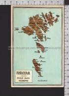R5520 FAROE ISLANDS MAP FOROYAR ISLES FP Cartolina QSL FAROER - Isole Faroer