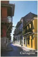 Lote PEP217, Colombia, Postal, Postcard, Cartagena, Calles Sector Amurallado - Colombia