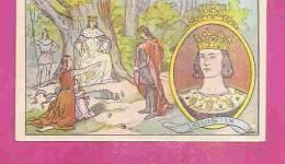 """IMAGE CHROMO RECOMPENSE  * LOUIS IX - 1226-1270 * Distribué Par  L' HUILE DE FOIE DE MORUE """" SALVER """" - Histoire"""