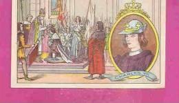 """IMAGE CHROMO RECOMPENSE  * CHARLES VII - 1422-1461 * Distribué Par  L´ HUILE DE FOIE DE MORUE """" SALVER """" - Histoire"""