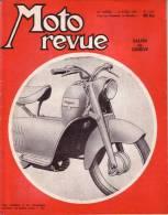 MOTO REVUE - N° 1232 - 2 AVRIL 1955 - ESSAI SULKY AMC - SALON DE GENEVE - AU DOS PUBLICITE SCOOTER PEUGEOT - Auto/Moto