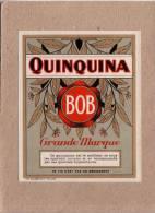 ETIQUETTE - QUINQUINA BOB - 114 X 91 MM - Etiquettes