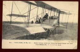 Cpa Du 78  Buc Paris Rome 28 Mai 1911 Biplan Farman Piloté Prince De Nyssol Faisant Son Plein D' Automobiline   DIV19 - Buc