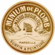 Etiquette Papier : Marseille, M. Dufour & Fils ( Surfin à Peinture ), Le Zèbre - Publicités