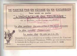 OFFICE CENTRAL DU TOURISME FRANCAIS  .- L' INDICATEUR DU TOURISME - Maps