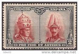 E418-A846TCO.Spain.Espagne .Alfonso Xlll Y Pio Xl.CATACUMBA  DE SAN DAMASO EN ROMA.1928 (Ed 418**) Nuevo, Sin Charnela - Celebridades