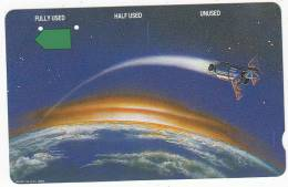 RWANDA(Tamura) - Satelite Orbiting The Earth, Telstra Telecard, First Issue $20, Used