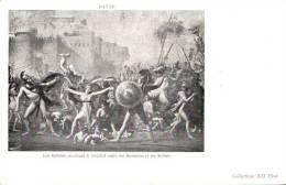 DAVID LES SABINES ARRETANT LE COMBAT ENTRE LES ROMAINS ET LES SABINS  CARTE PRECURSEUR PAS CIRCULEE - Paintings