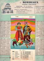 CALENDRIER Grand Format = 24.5 X 32.5 Cms-année 1968 Paroisse SAINT-BRUNO 33 BORDEAUX (religion Création UNIJEP) - Grand Format : 1961-70
