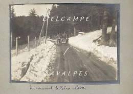 Alpes-Maritimes 06 - PEÏRA-CAVA - Voiture Ancienne Route Lucéram, Sospel - PHOTO ORIGINALE 1914 - 2 Scans - Lieux