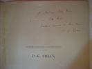 Frontespizio Con Dedica Autografa Di Paul Emile Colin 1912 - Autographes