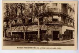 PARIS  MAISON PRUNIER-TRAKTIR 16 AVENUE VICTOR HUGO  RESTAURANT-BAR-POISSONNER IE CARTE PUBLICITAIRE - Hotels & Gaststätten