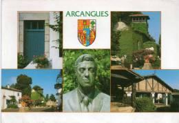 Cpm 1959, ARCANGUES, Ville De Luis Mariano, Multivues (14.42) - Autres Communes