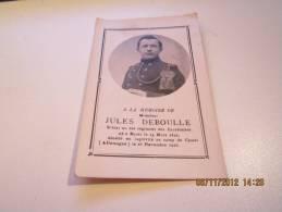 Faire Par Mortuair Du Soldat Jules Deboulle Né Buzet Dcd Captivité Camp De Cassel 1891-1916 - Religion & Esotericism