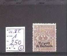 Tripoli : N° 1(*)  Cote Yvert : 2,50 €   Neuf Sans Gomme - Tripolitania