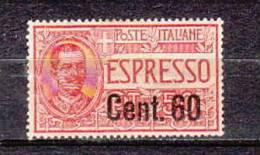 ITALY-1922-Sc#. E11 -MINT NH -RARE  VF -EURO 85.00--SALE $ 26.00 - 1900-44 Vittorio Emanuele III