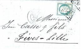 Lettre Pour Fives - Lille - Marcophilie (Lettres)