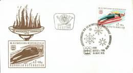 F.D.C.: 12ème Jeux Olympiques D´Hiver à Innsbruck 1976. Saut à Ski. - FDC