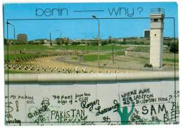 BERLIN.  Berliner Mauer. Why ?  + MI BERLIN 500 70 Pf. - Muro Di Berlino