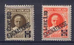 Vaticano 1931 Segnatasse Sass.5/6 */MH VF - Postage Due