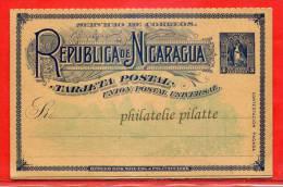 NICARAGUA ENTIER POSTAL 3C AVEC REPONSE NEUF - Nicaragua