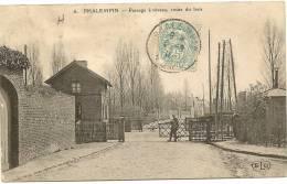 59/ PHALEMPIN - Passage A Niveau Route Du Bois - (gare?) - Frankreich