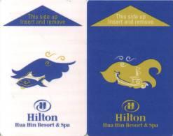 Clef D`hotel Room Key Keycard Chiave Di Albergo Tarjeta Hotel Hotelkarte HILTON HUA HIN RESORT2 Different Keys - Frankreich