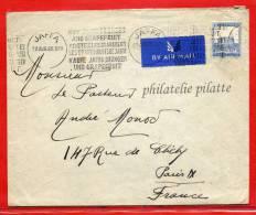 PALESTINE FLAMME ORANGES ET PAMPLEMOUSSES SUR LETTRE DE 1935 DE JAFFA POUR PARIS FRANCE - Palestine