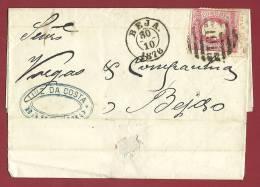 PORTUGAL - BARREIRO-BEJA - 1876 LETTER - 1862-1884 : D.Luiz I
