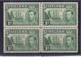 St.Helena1938-41:Scott119(Yvert)mnh* * Block Of 4 - Saint Helena Island